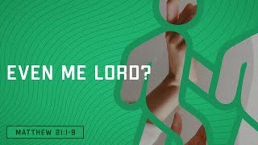 Even Me, Lord? (Matthew 21:1-9)