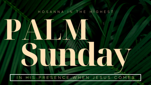 Palm Sunday 2021, When Jesus Comes