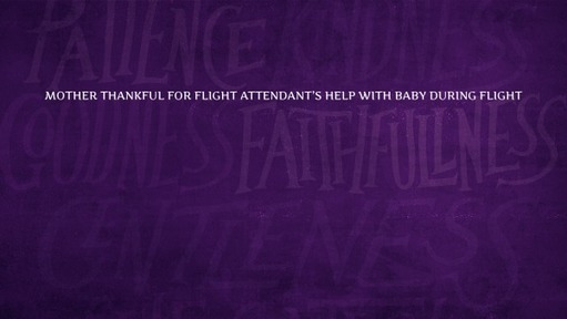 Mother thankful for flight attendant's help with baby during flight