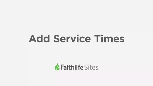 Add Your Service Times