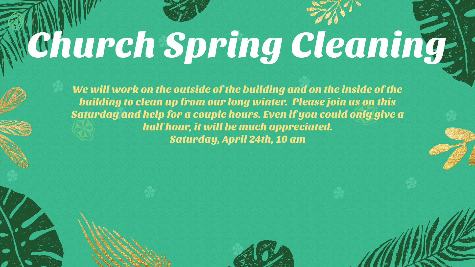 Church Spring Cleaning