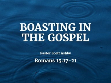 Boasting in the Gospel