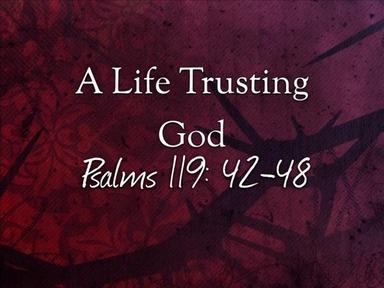 A Life Trusting God
