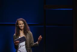 Female Pastor on Stage  image 2