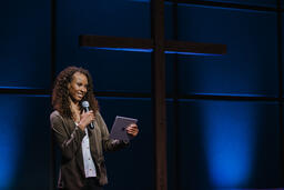 Female Pastor on Stage  image 3