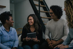 Small Group of People Laughing  image 1