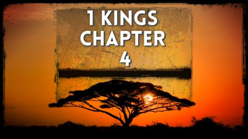 1 Kings 4