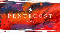 Pentecost Sunday Abstract  PowerPoint image 1