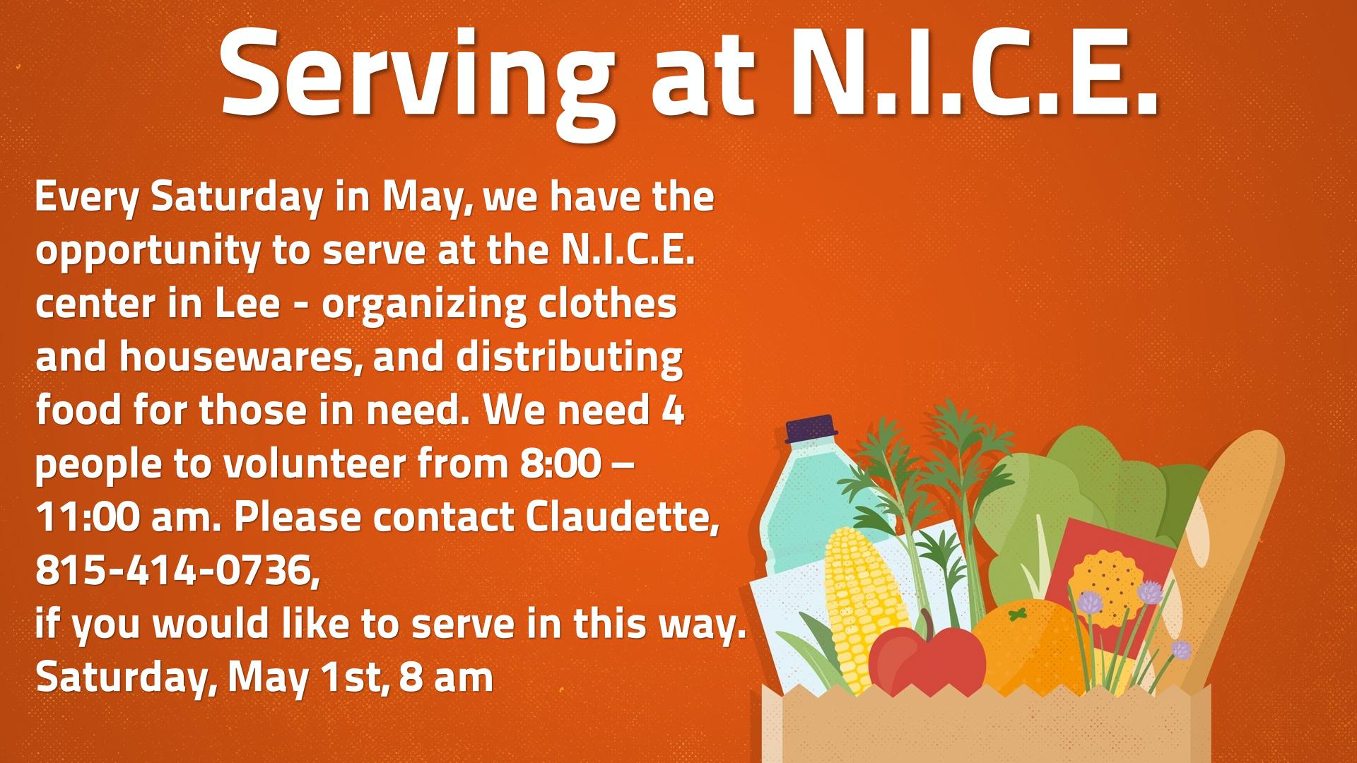 Serving at N.I.C.E.