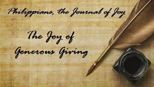 The Joy of Generous Giving