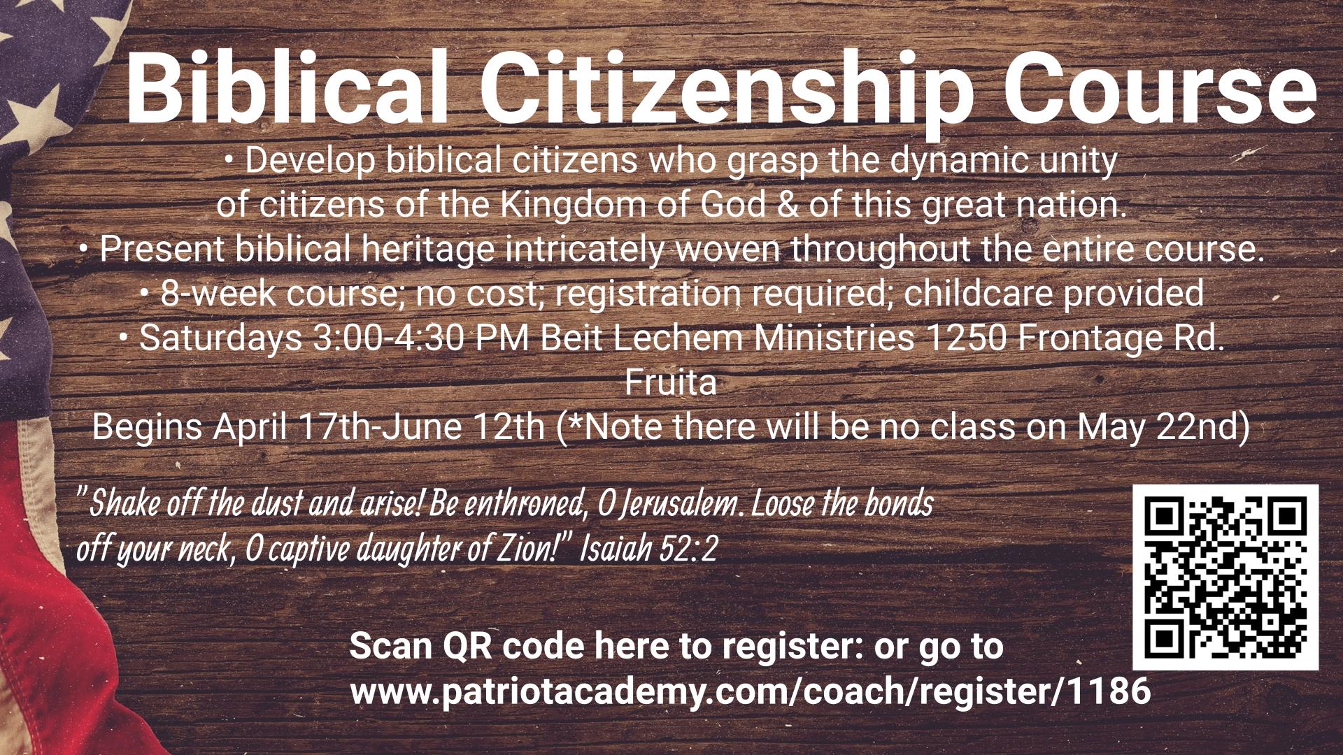 Biblical Citizenship Class