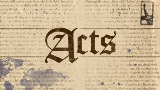 Acts: Jesus, I'm in