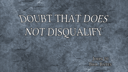 Doubt That Does Not Disqualify