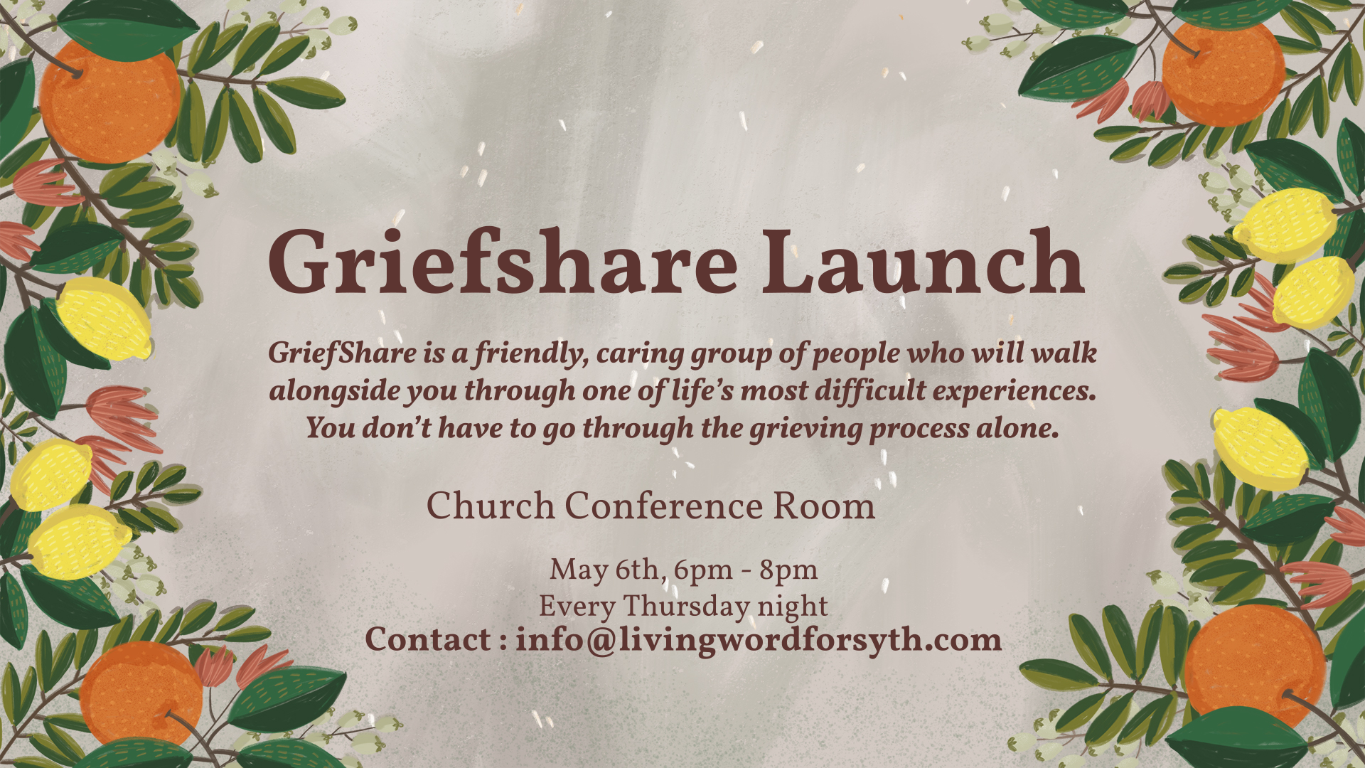 GriefShare Group Launch