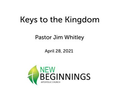 Wed 4/28 Keys of the Kingdom