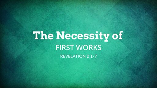 The Necessity of First Works