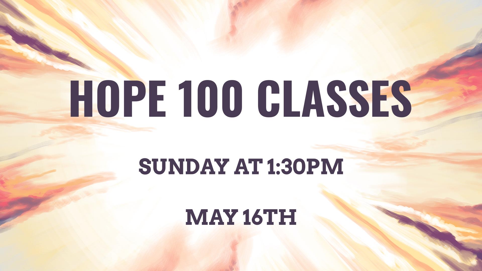 Hope 100 Classes