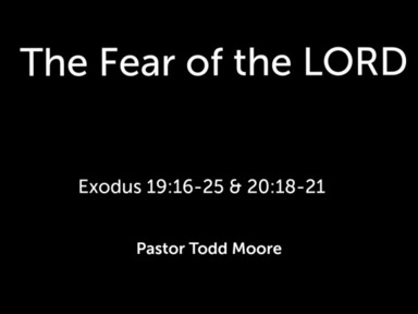 """Sunday Service  """"The Fear of the LORD"""""""