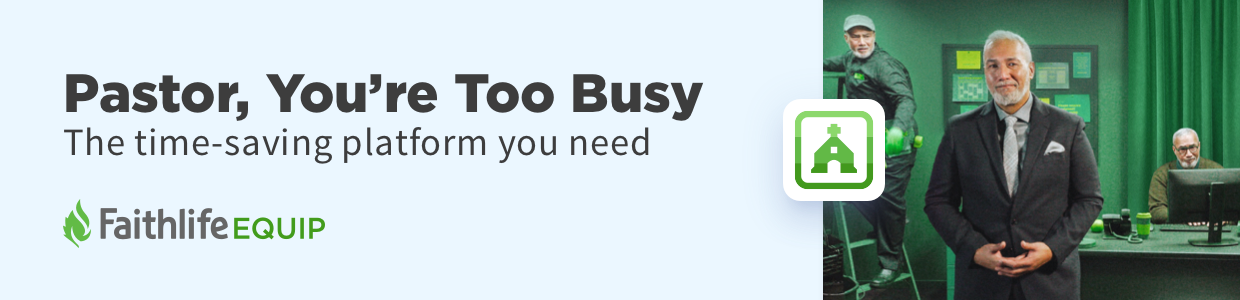 Ad: Pastor, You're Too Busy. The time-saving platform you need