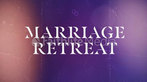 Church Name Marriage Retreat Blue