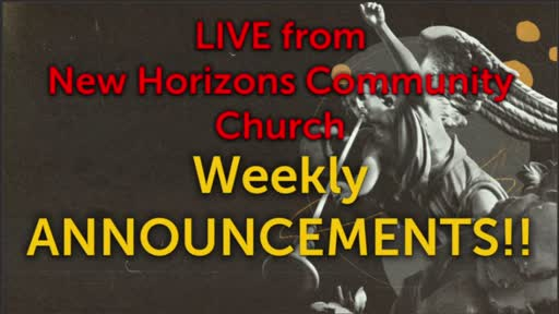 5-20-21 Weekly Announcements LIVE From NHCC