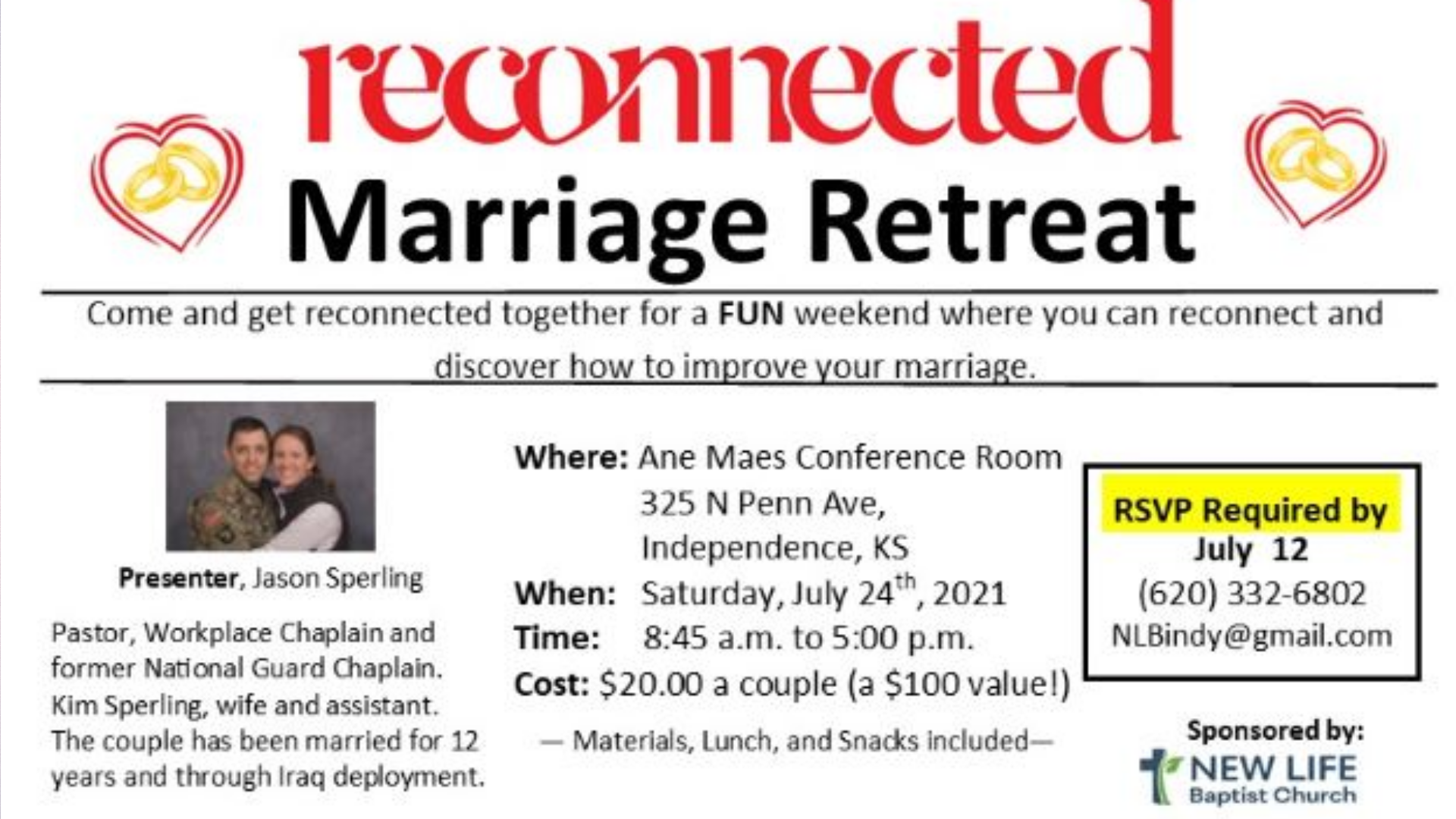 Reconnected Marriage Retreat
