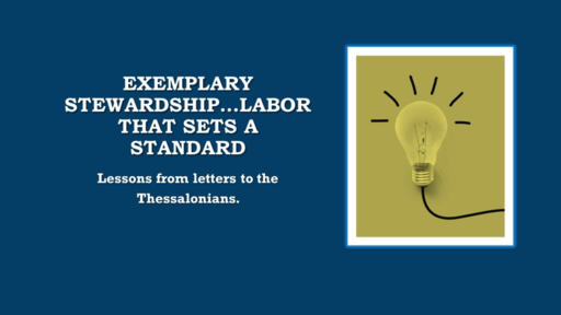 May 26, Wed pm -  Thessalonians # 1