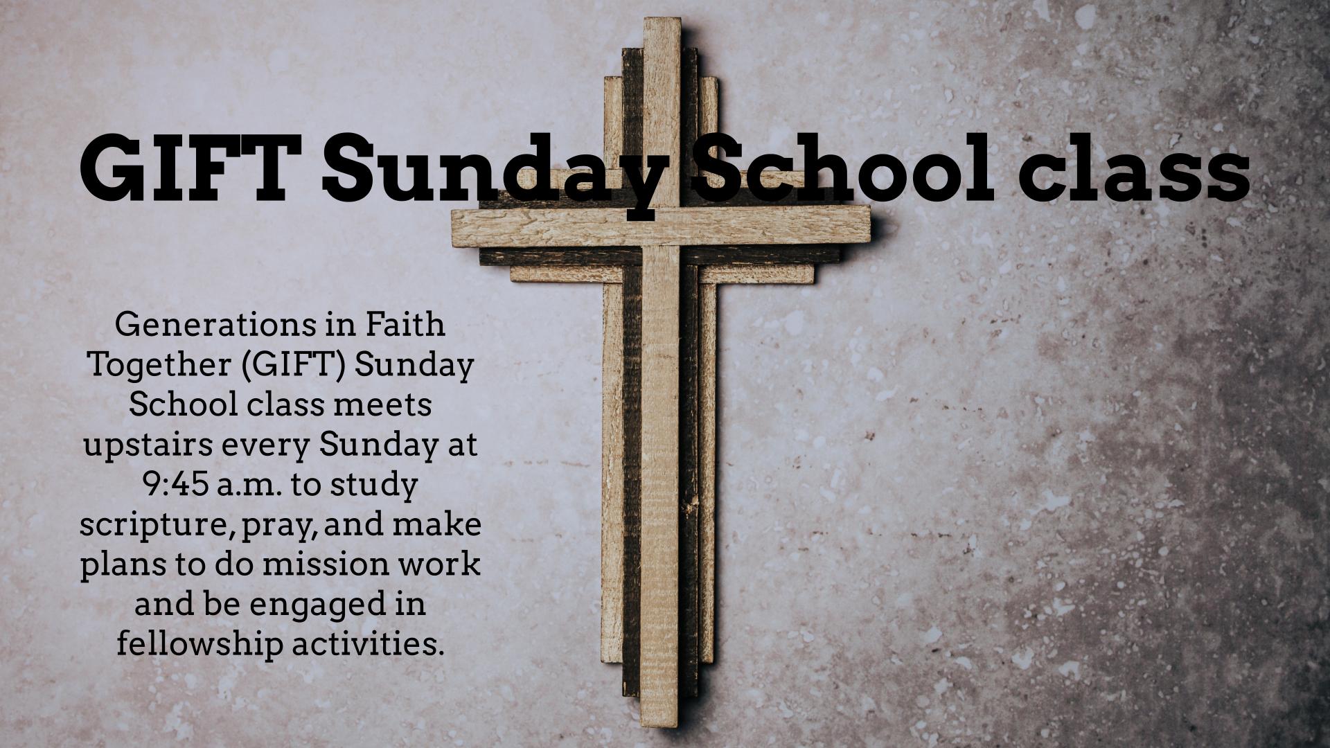 GIFT Sunday School class