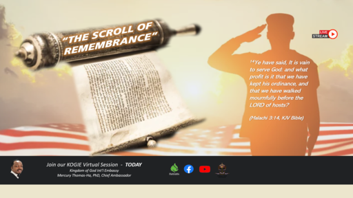 """""""The Scroll of Remembrance"""" by Mercury Thomas-Ha, PhD 