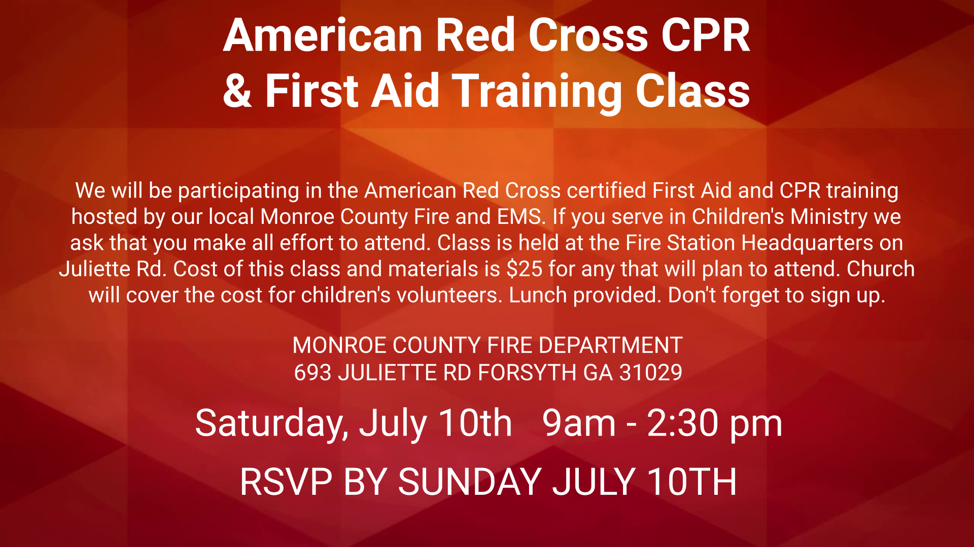 American Red Cross CPR and First Aid Training
