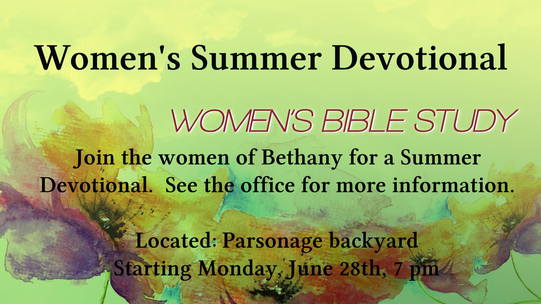Women's Summer Devotional