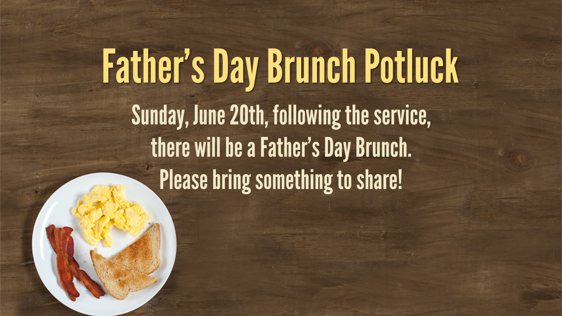 Father's Day Brunch Potluck