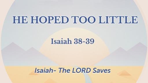 Isaiah The Lord Saves