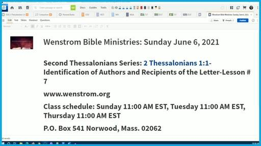 2 Thessalonians 1:1-Identification of Authors and Recipients of the Letter
