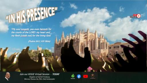 """In His Presence"" by Mercury Thomas-Ha, PhD  |  2Day @ 2:15PM (060621)"