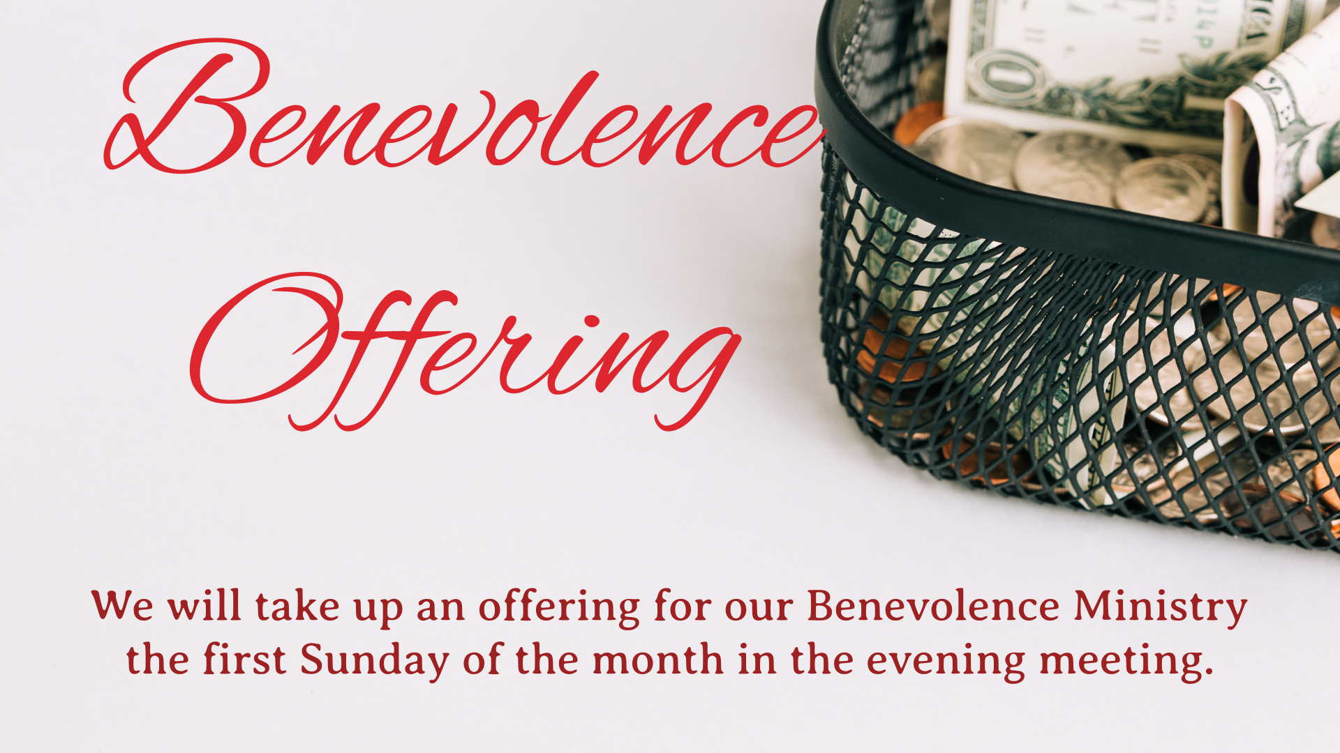 Benevolence Offering