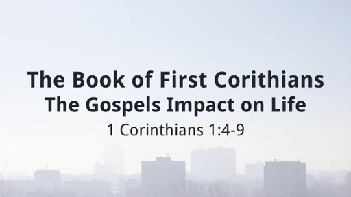 The Book of First Corithians