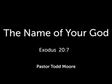 """Sunday Service """"The Name of Your God"""""""