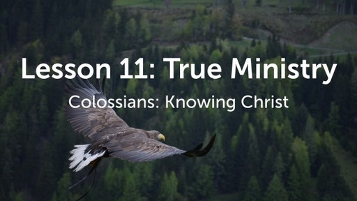 Lesson 11: True Ministry