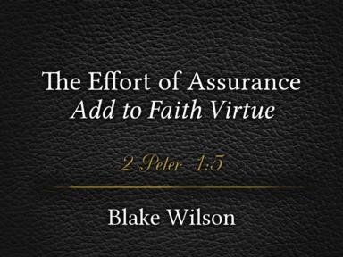 The Effort of Assurance: Add to Faith Virtue