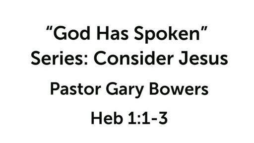 Consider Jesus (1)