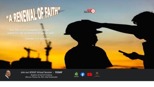 """A Renewal of Faith"" by Mercury Thomas-Ha, PhD  |  2Day @ 03:30 PM (Date 062021)"