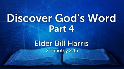 DISCOVER GOD'S WORD 4