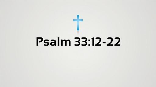 Psalm 33:12-22