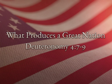 What Produces a Great Nation