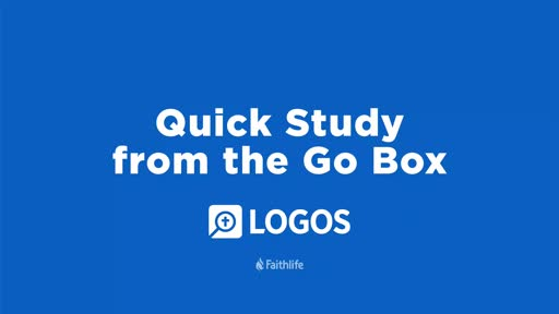 Quick Study From The Go Box