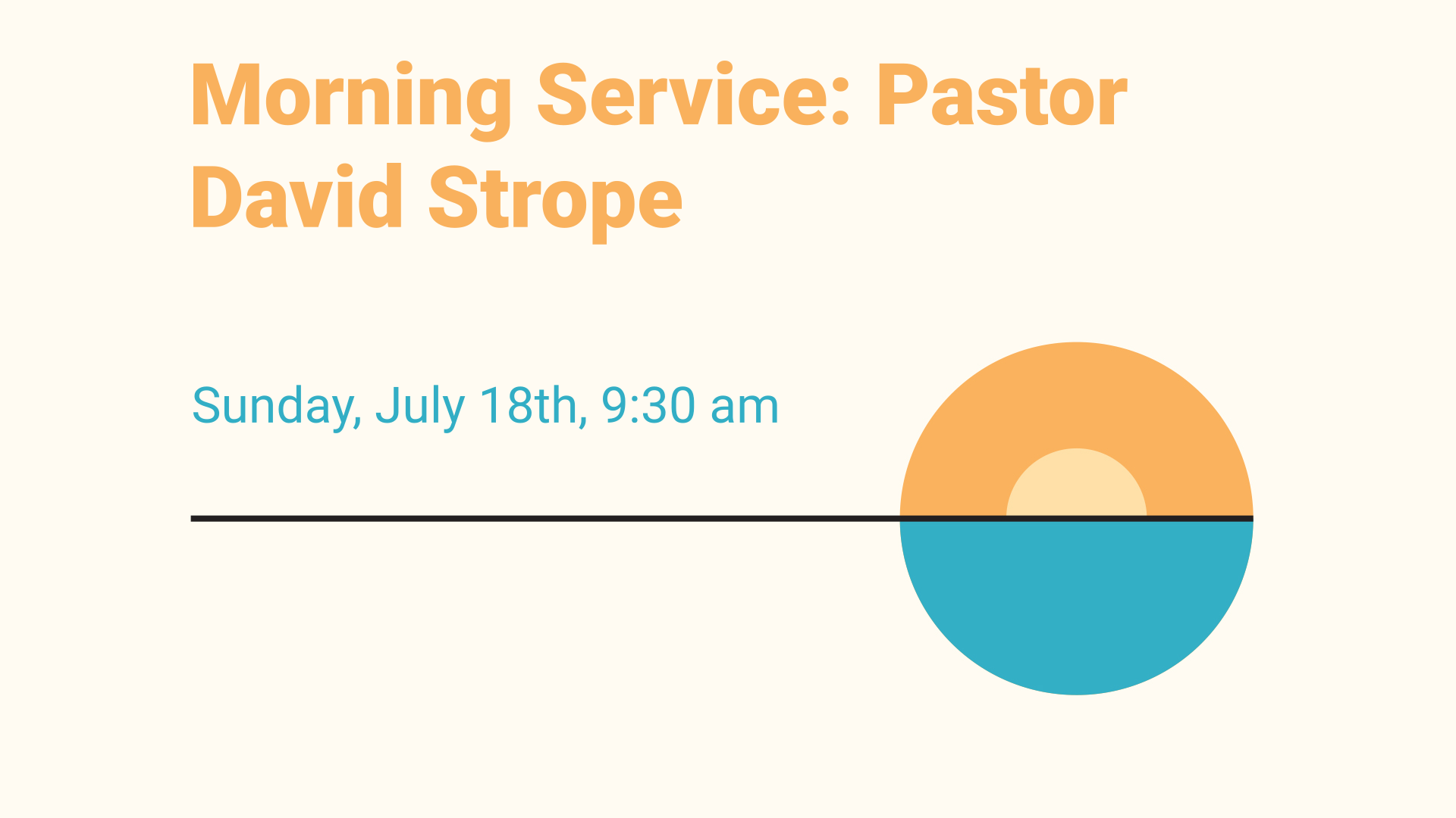 Morning Service: Pastor David Strope