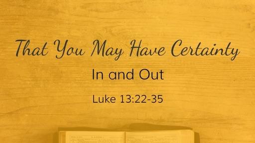 Luke 13:22-35