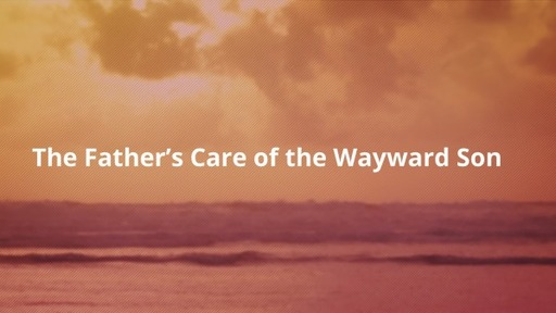The Father's Care for the Wayward Son