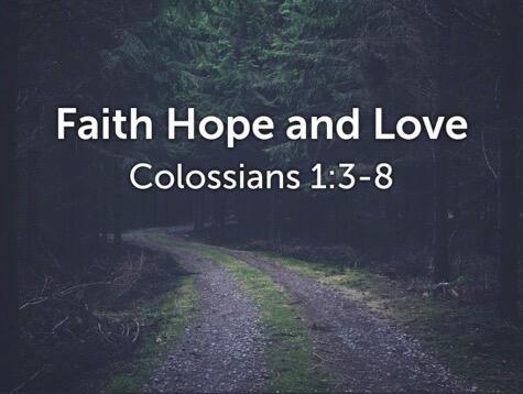 Faith, Hope and Love 07.25.21